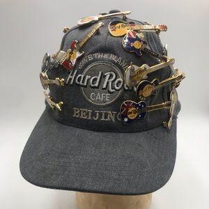 SO GREAtT! vintage Hard Rock Hat with pins!
